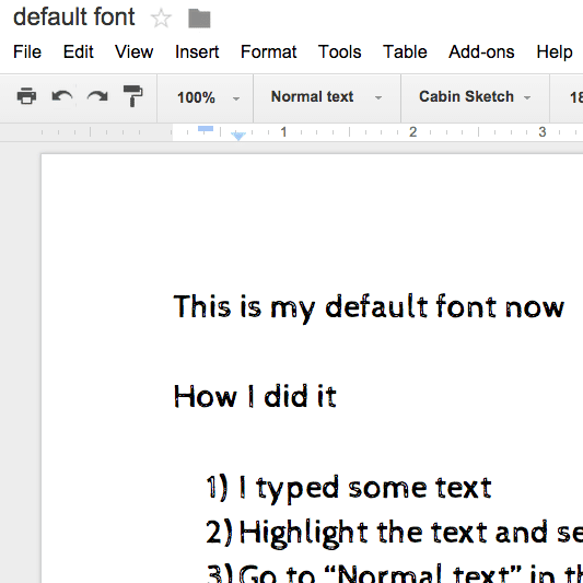 Google docs change your default font teacher tech for Fonts for google docs android