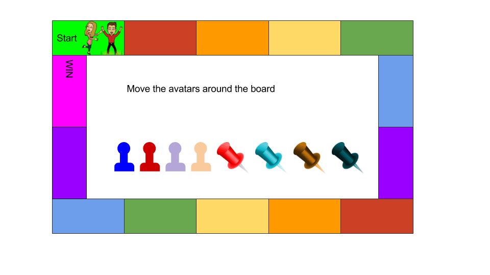 Google Slides Brettspielstücke oder Avatare